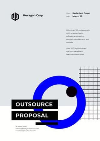 Plantilla de diseño de Outsource Services offer Proposal