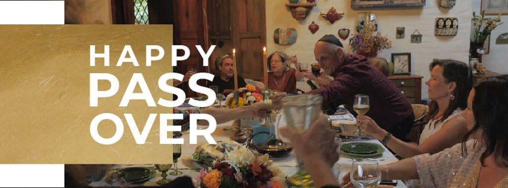 Passover Celebration Family at Dinner Table — Modelo de projeto