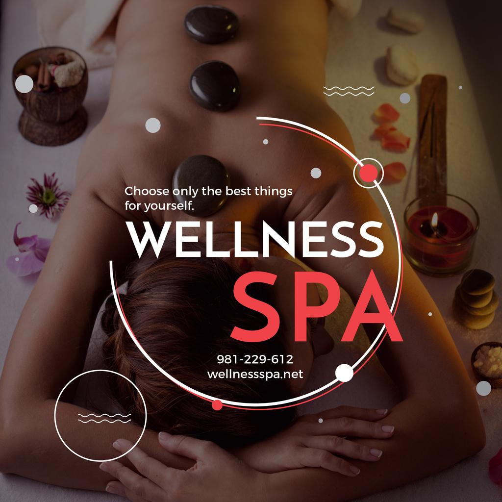 Wellness spa website poster — Create a Design