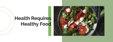 Healthy Italian caprese salad Facebook coverデザインテンプレート