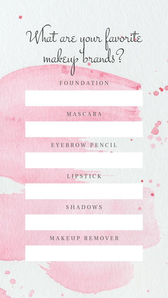 Form about Favourite Makeup brands — Створити дизайн
