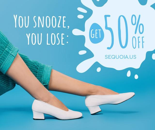 Shoes Store Female Legs in Heeled Shoes Facebook Modelo de Design