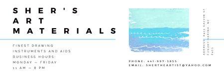 Art materials shop Offer Email header Modelo de Design