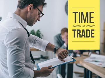Time to trade poster