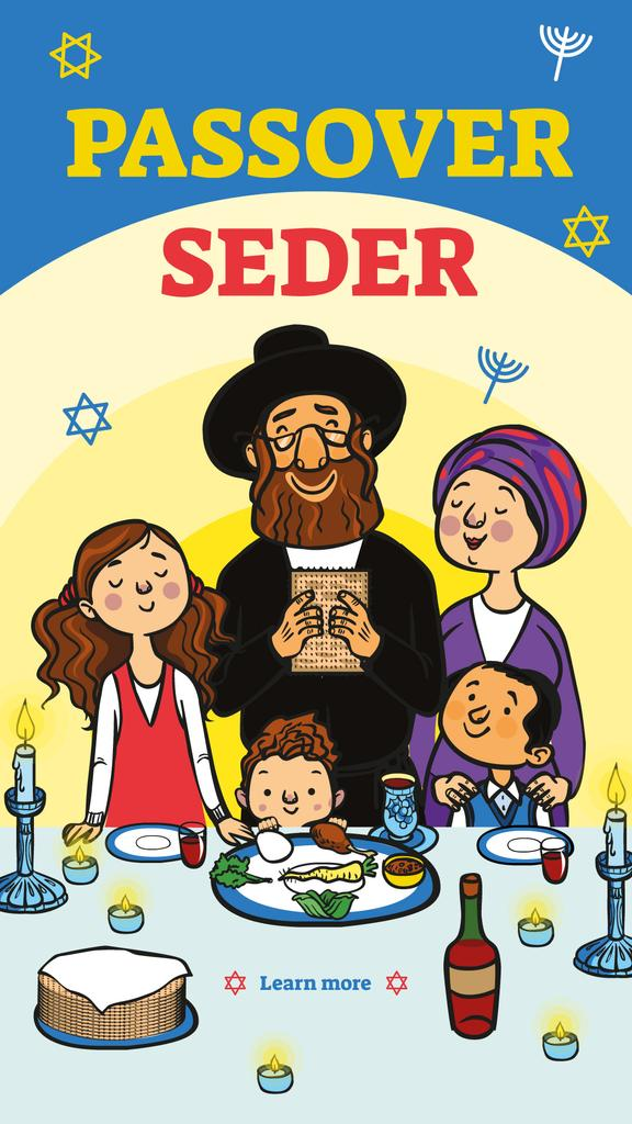 Family at Passover dinner — Crea un design
