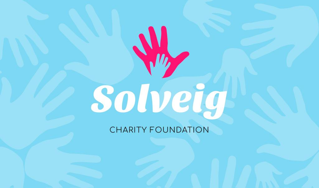 Charity Foundation Supporting with Hands Silhouettes — Maak een ontwerp