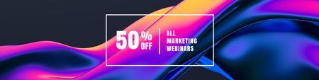 Marketing Webinars sale Twitterデザインテンプレート