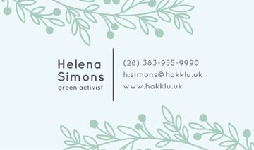 Green Activist Contacts Information
