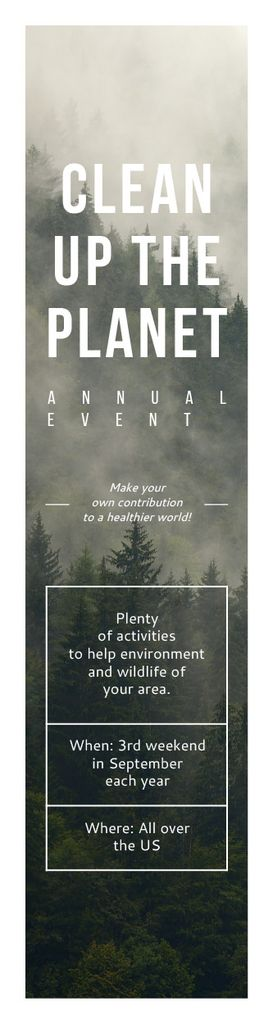 Ecological Event Announcement Foggy Forest View — Modelo de projeto