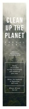 Ecological Event Announcement Foggy Forest View | Wide Skyscraper Template