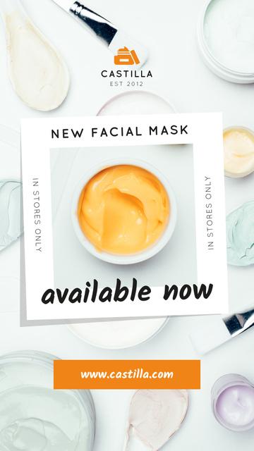 Template di design Natural Cosmetics Offer with Orange Cream Instagram Story
