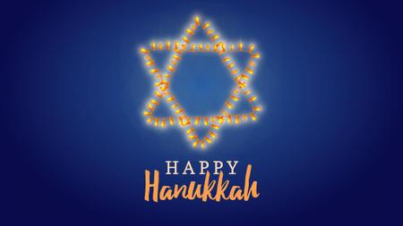 Modèle de visuel Happy Hanukkah greeting - Full HD video