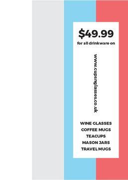 Shop Sale announcement on colorful Stripes