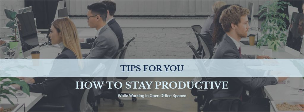 Productivity Tips Colleagues Working in Office — Modelo de projeto