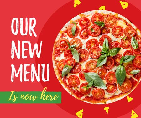 Designvorlage Delicious Italian pizza menu für Facebook