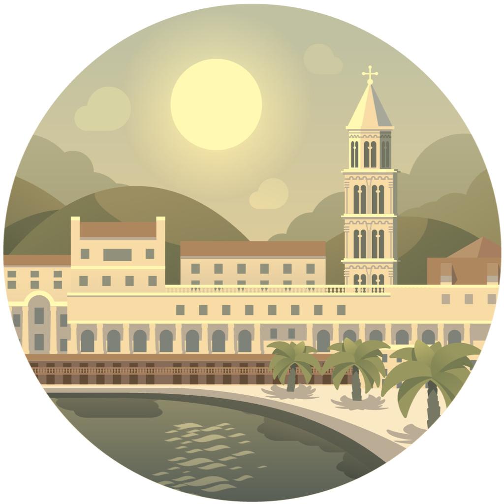 Sunny southern resort icon — Maak een ontwerp