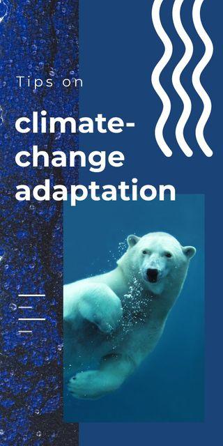 Modèle de visuel Polar bear swimming in water - Graphic