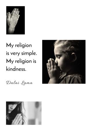 Ontwerpsjabloon van Poster van Religion citation about a prayer