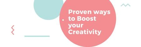 Plantilla de diseño de Citation about proven Creativity Twitter