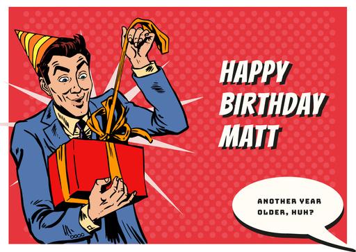 Man Celebrating Birthday