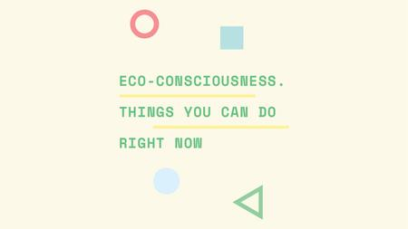 Szablon projektu Eco-consciousness concept with simple icons Title