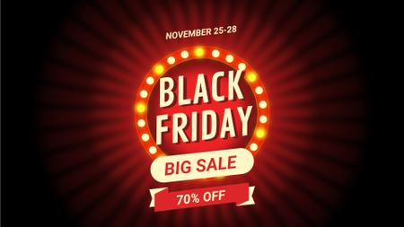 Plantilla de diseño de Black Friday Sale Flickering Lamps Full HD video