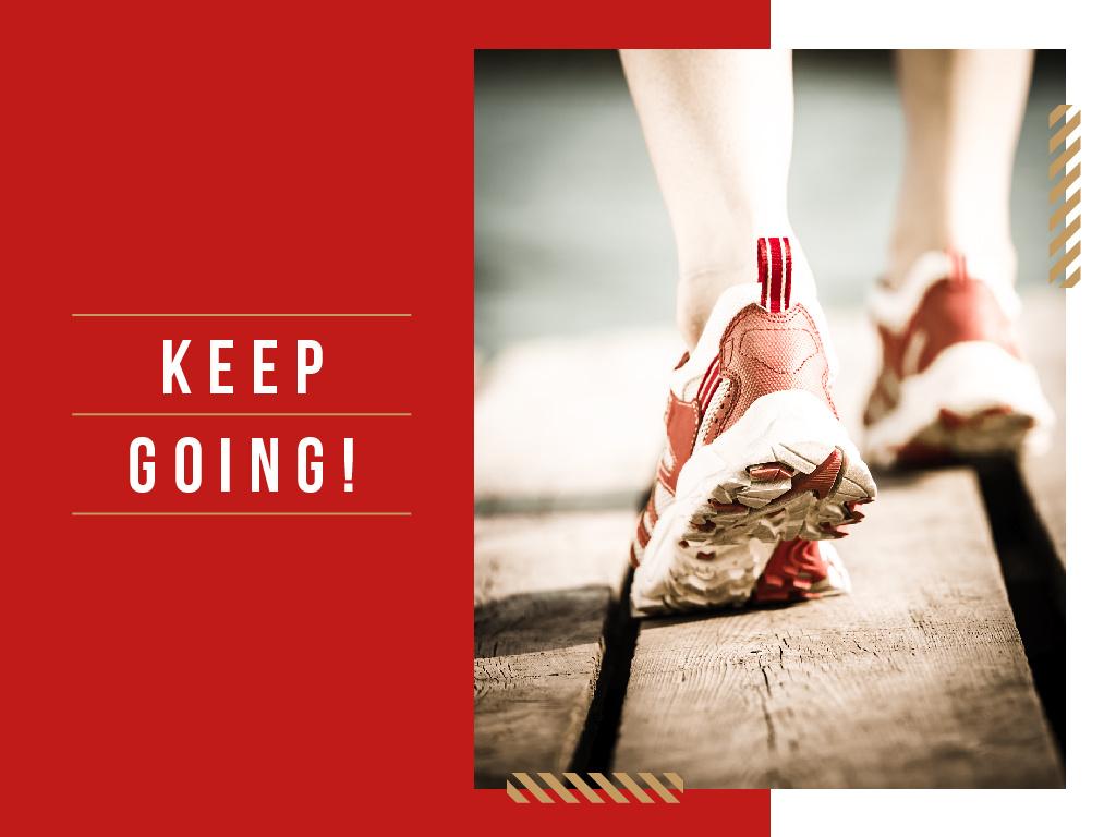 Keep Going! poster — Maak een ontwerp