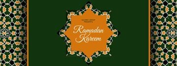 Ramadan Kareem greeting in green