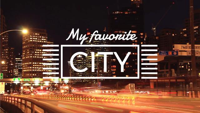 Ontwerpsjabloon van Full HD video van Night City Traffic Lights