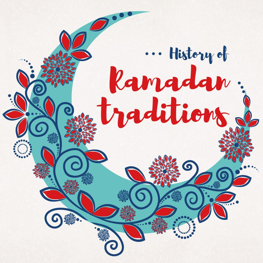 Ramadan Kareem History Traditions with Blue Moon — Створити дизайн