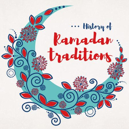 Modèle de visuel Ramadan Kareem History Traditions with Blue Moon - Instagram