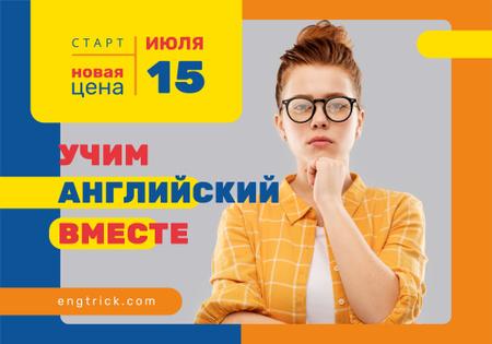 Plantilla de diseño de Education Event with Confident Woman Wearing Glasses VK Universal Post