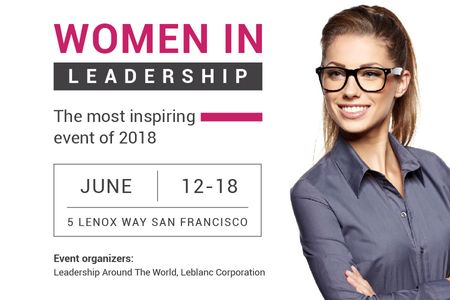 Designvorlage Women in Leadership event für Gift Certificate