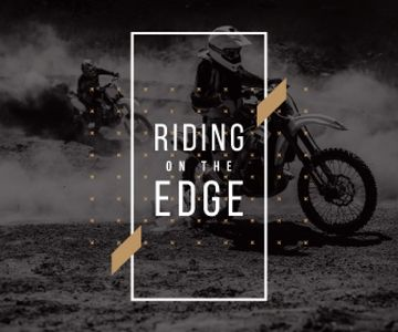 extreme sport poster with bikers