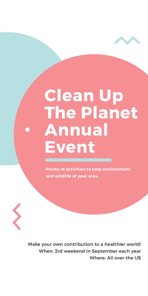 Clean up the Planet Annual event — Maak een ontwerp