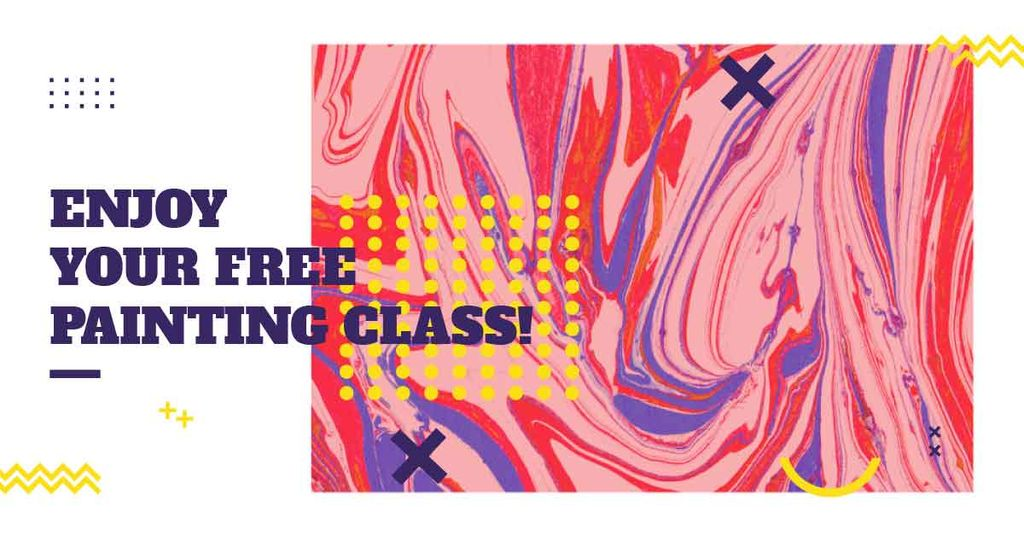 free painting masterclasses bright banner — Créer un visuel