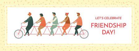 Plantilla de diseño de Friendship day greeting card Facebook cover