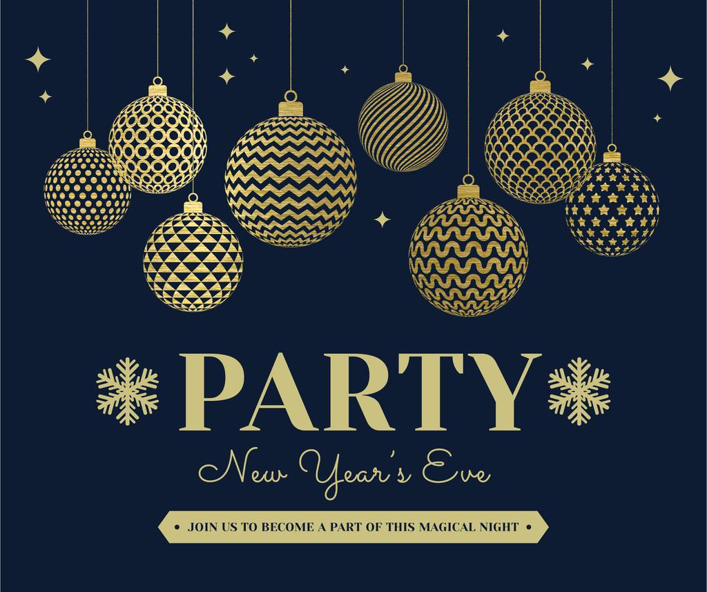 Shiny baubles for New Year Party — Créer un visuel