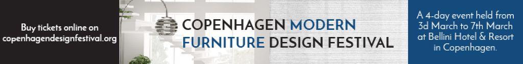 Furniture Design Festival Modern White Room | Leaderboard Template — Maak een ontwerp
