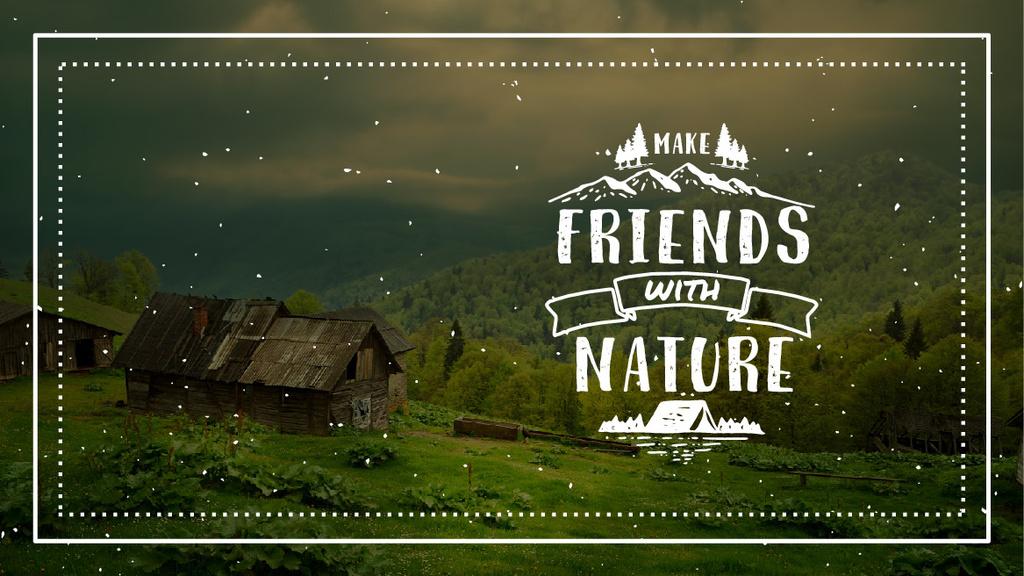 Nature Quote Scenic Mountain View — Maak een ontwerp
