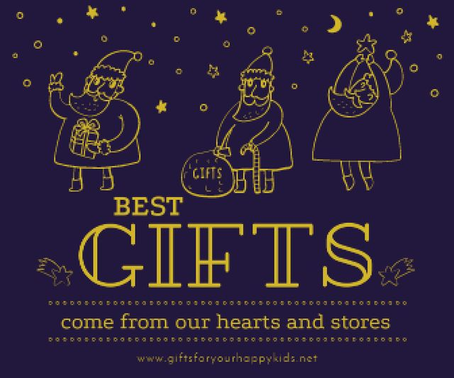 Modèle de visuel Merry Christmas card - Large Rectangle
