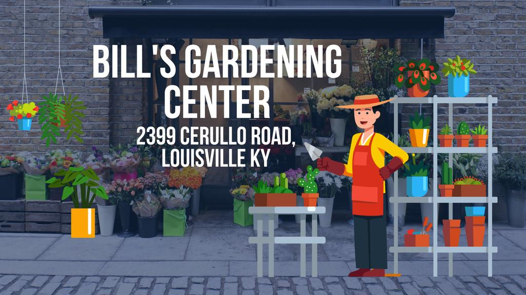 Florist Studio Ad with Gardener Working | Full Hd Video Template — Maak een ontwerp