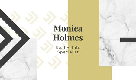 Real Estate Specialist Services Offer Business card Modelo de Design