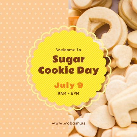 Template di design Sugar cookie day Instagram