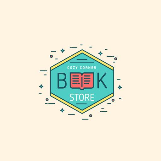 Bookstore Ad With Open Book Icon
