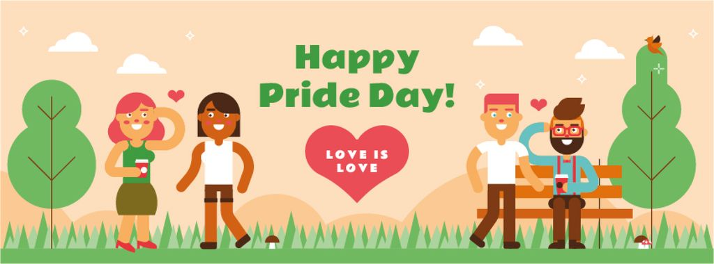 LGBT romantic couples on Pride Day — ein Design erstellen