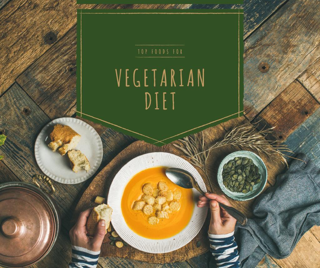 Eating vegetable soup — Modelo de projeto
