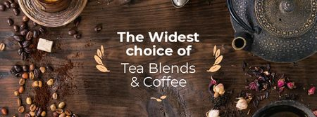 Plantilla de diseño de Coffee and Tea blends Offer Facebook cover