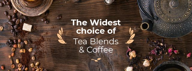Coffee and Tea blends Offer Facebook cover – шаблон для дизайну
