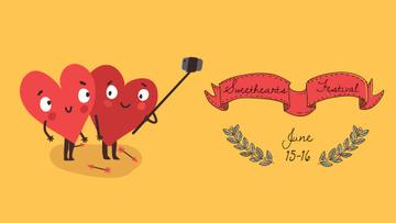 Hearts taking Selfie on Valentine's Day